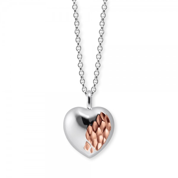 Kette With Love Silber Bicolor